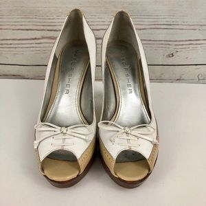 Cole Haan Shoes - Marc Fisher Patent Leather Oxford Platform Heels
